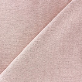 Crinkled Viscose Fabric - Pink x 10cm