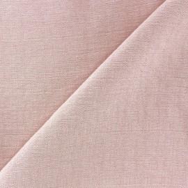 Tissu viscose rose x10cm