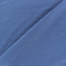 Tissu jersey viscose léger pailleté denim x 10cm