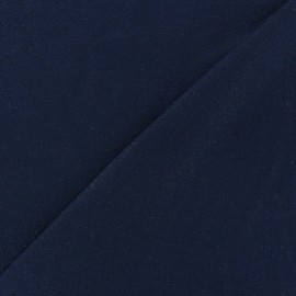 ♥ Coupon tissu 20 cm X 150 cm ♥ jersey viscose l ger paillet  bleu nuit