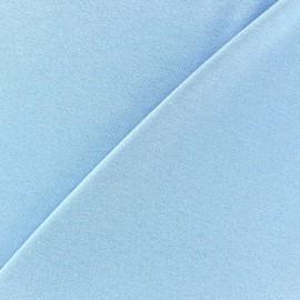 Tissu jersey viscose léger pailleté bleu ciel x 10cm
