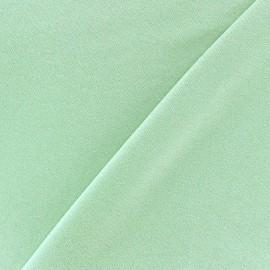 Tissu jersey viscose léger pailleté vert d'eau x 10cm