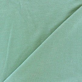 Tissu jersey viscose léger pailleté vert céladon x 10cm