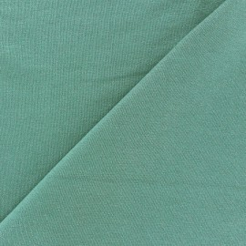 Light Sequined Viscose Jersey Fabric - Sage green x 10cm