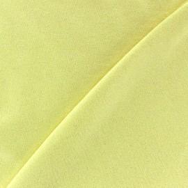 Tissu jersey viscose léger pailleté jaune paille x 10cm