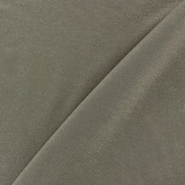 Light Sequined Viscose Jersey Fabric - Havana x 10cm
