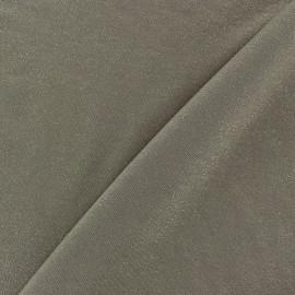 Tissu jersey viscose léger pailleté havane x 10cm
