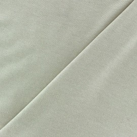 Tissu jersey viscose léger pailleté beige clair x 10cm