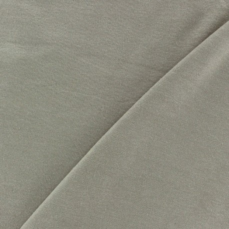 Light Sequined Viscose Jersey Fabric - Taupe x 10cm