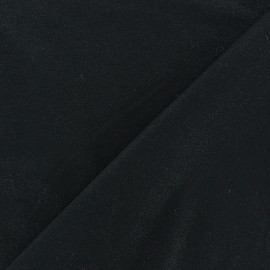 Light Sequined Viscose Jersey Fabric - Black x 10cm