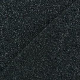 Light Sequined Viscose Jersey Fabric - Ebony x 10cm