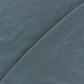 Light Sequined Viscose Jersey Fabric - Grey x 10cm