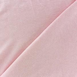 Tissu jersey viscose léger pailleté rose dragée x 10cm
