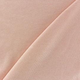 Tissu jersey viscose léger pailleté pêche x 10cm