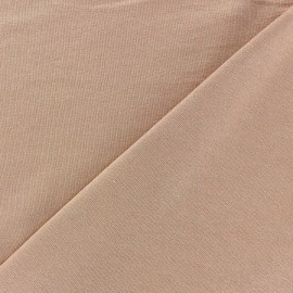 Tissu jersey viscose léger pailleté rose antique x 10cm