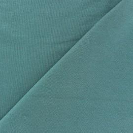 Tissu jersey viscose léger pailleté pétrole x 10cm
