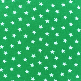 Tissu jersey étoile Magic vert prairie x 10cm