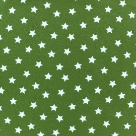 Magic Stars Jersey Fabric - Moss Green x 10cm