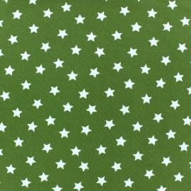 Tissu jersey étoile Magic vert mousse x 10cm