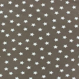 Tissu jersey étoile Magic taupe x 10cm