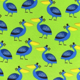 Pelican Jersey Fabric - Lime  x 10cm
