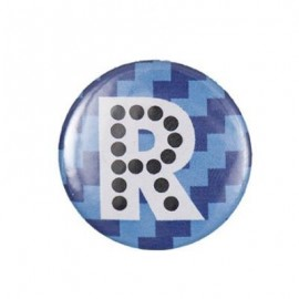 Badge alphabet fantaisie R