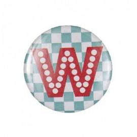 Badge alphabet fantaisie W
