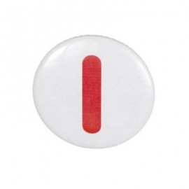 "Two-tone Pin-on button badge Alphabet ""letter I"" - white"