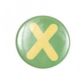 Badge alphabet X