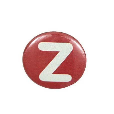 "Two-tone Pin-on button badge Alphabet ""letter Z"" - brown"