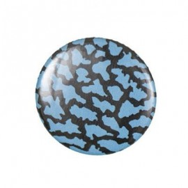 Crackled-effect Pin-on button badge - turquoise