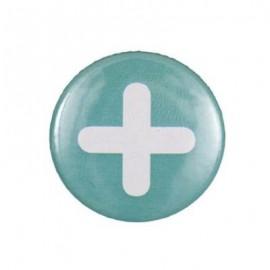"""Badge rond motif """"plus"""""""