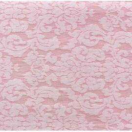 Tissu toile aspect jean Rococo rose x 10cm