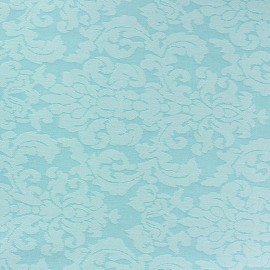 Tissu toile aspect jean Rococo bleu clair x 10cm