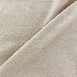 Sequined Suede Fabric - Sand x 10cm