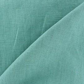 Tissu lin lavé (laize: 135cm) bleu-vert x 10cm