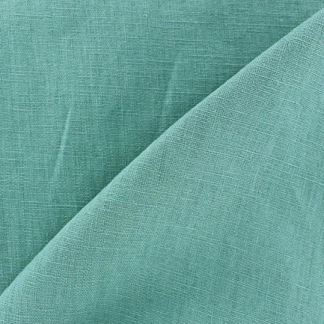 Washed Linen (135cm) Fabric - Blue Green x 10cm