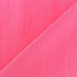 Color jeans fabric - bright pink x 10cm