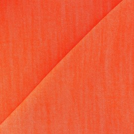 Tissu jeans Color orange vif x 10cm