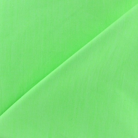 Color jeans fabric - bright light green x 10cm