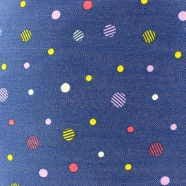 Fantasy dots jeans fabric - red x 10cm