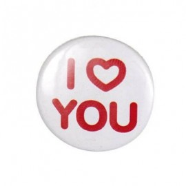 "Badge rond ""i love you"""