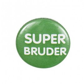 "Badge rond ""super bruder"""