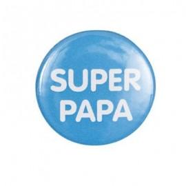 "Badge rond ""super papa"""