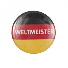 """Badge rond """"weltmeister"""""""