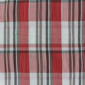 Checkered Crumpled Fabric - Red x 10cm