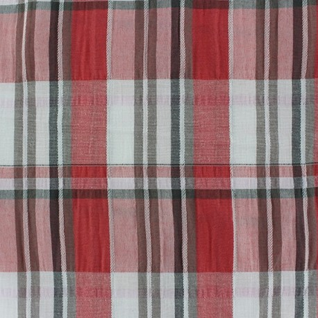 tissu froiss carreaux rouge x 10cm ma petite mercerie. Black Bedroom Furniture Sets. Home Design Ideas