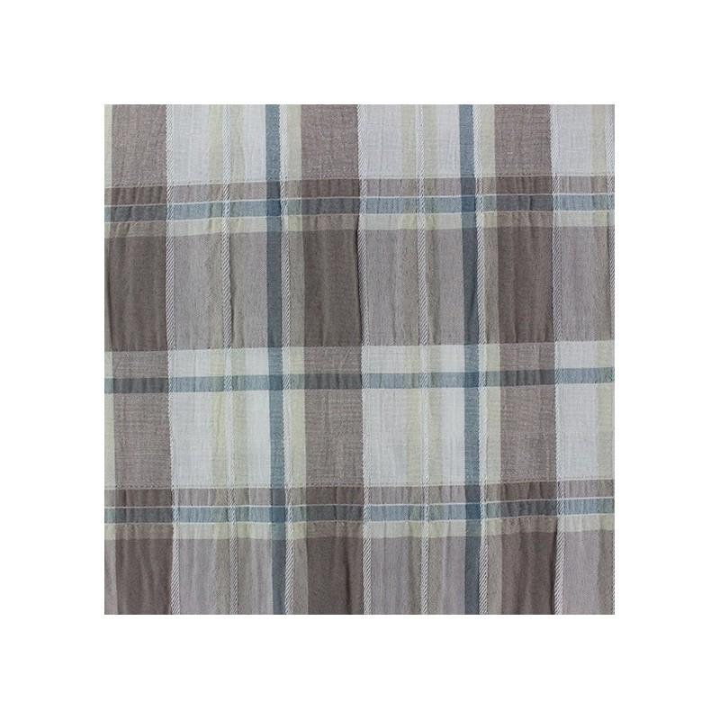 tissu froiss carreaux taupe x 10cm ma petite mercerie. Black Bedroom Furniture Sets. Home Design Ideas