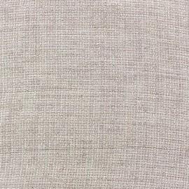 Lurex linen fabric - Scarlet pink x 10cm