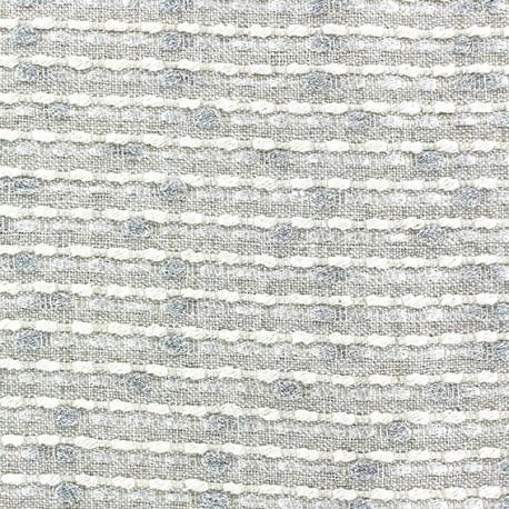 Lurex linen fabric - Brunelle ecru x 10cm